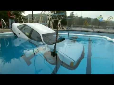 adam from mythbusters attempts to escape a sinking car. Black Bedroom Furniture Sets. Home Design Ideas