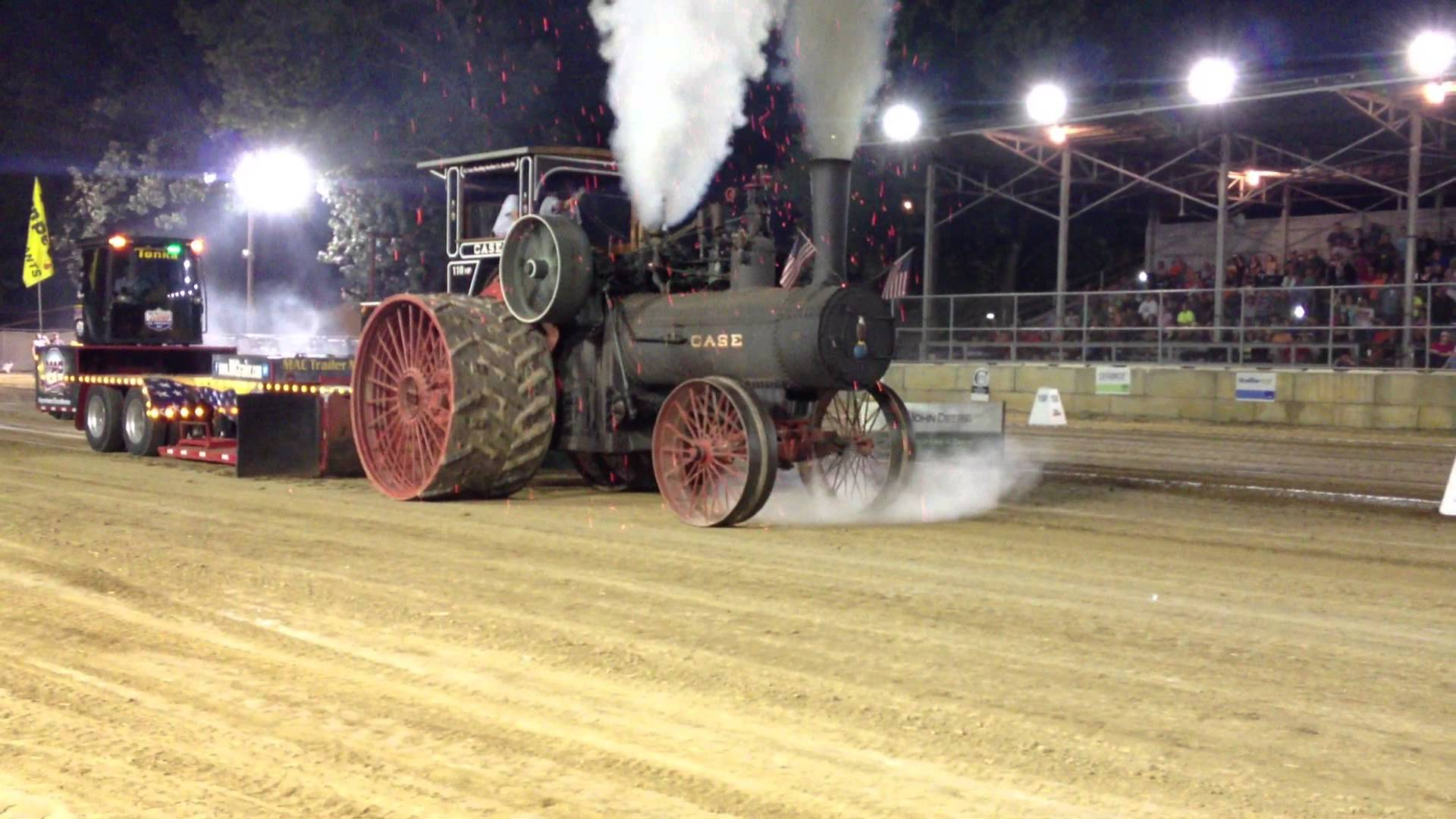 Tractor Pulling Train : Giant steam tractor pull will give you goose bumps