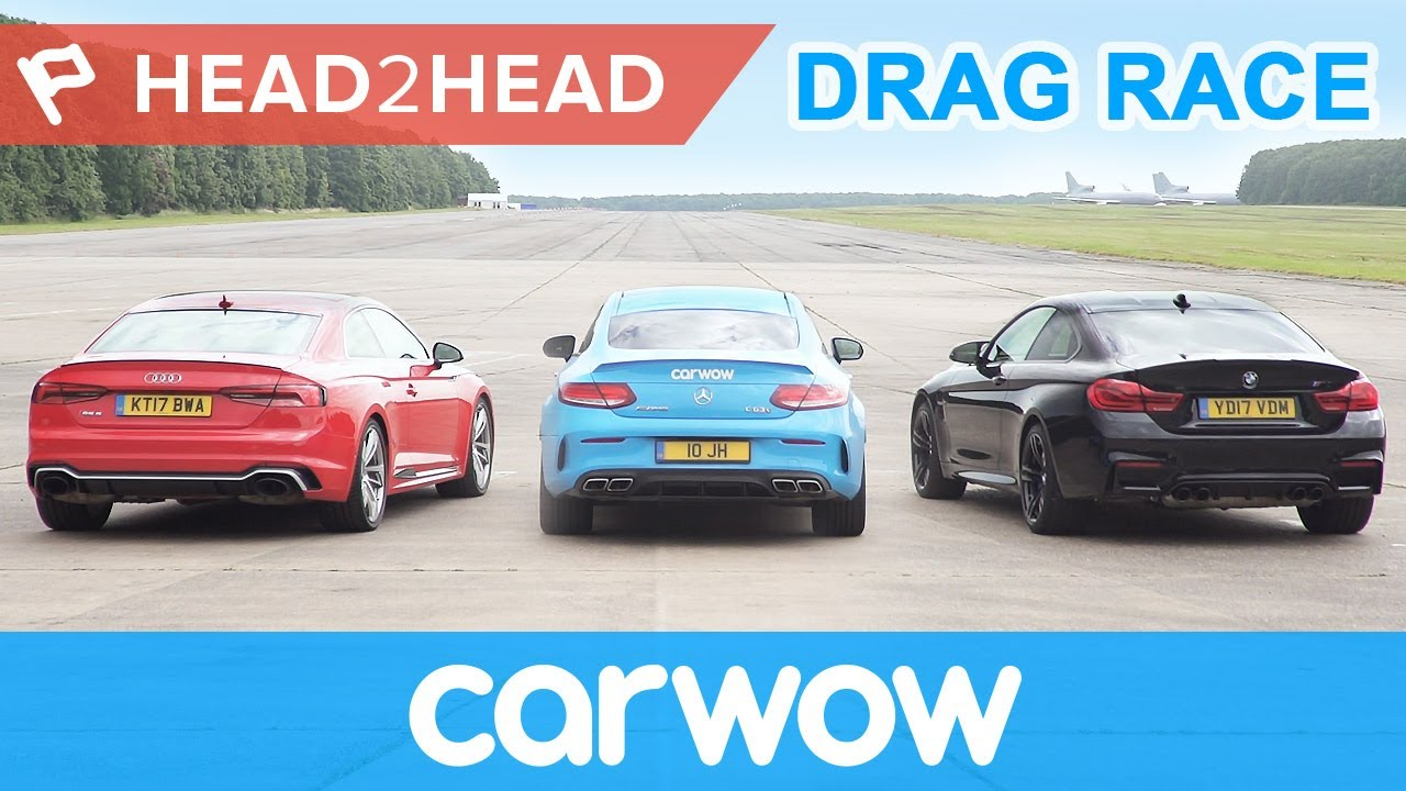 New Audi RS5 Vs BMW M4 Vs Mercedes-AMG C63S Drag And Rolling Race