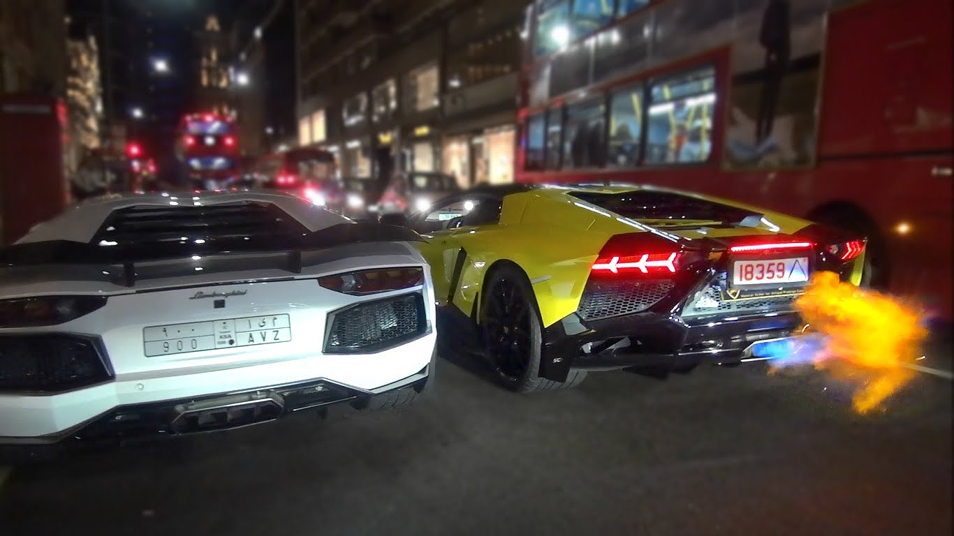 Lamborghini Aventador Roars Like A Beast And Spits Fire Wicked