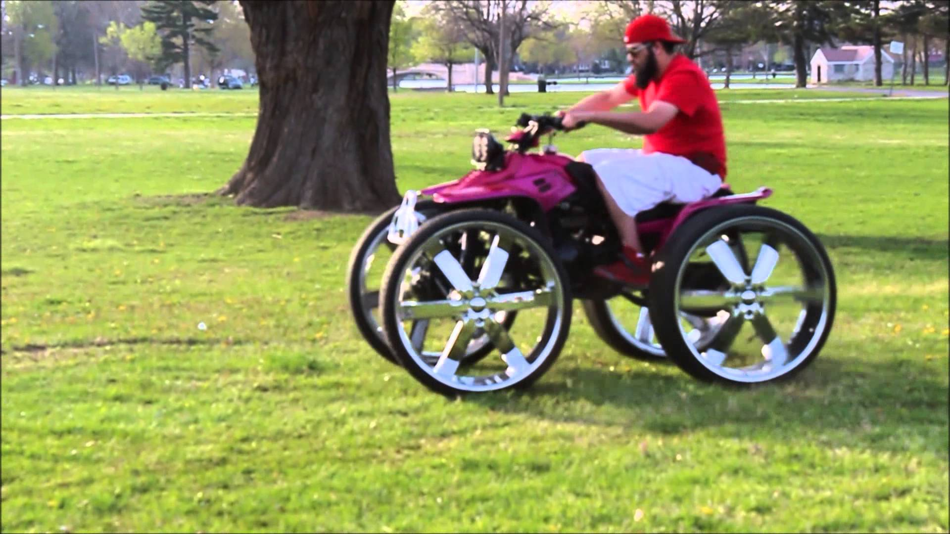 Cool Four Wheelers : World s ugliest wheeler doing donuts on is epic fun