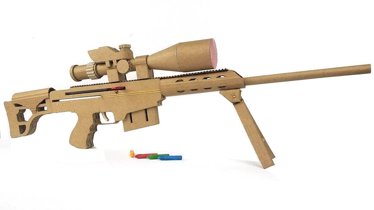 Diy Cardboard Sniper Rifle Build Will Piss Off Your Cat