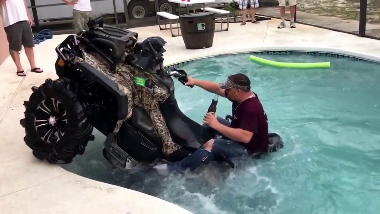 Captivating Florida Man Drives Can Am Right Into Swimming Pool Without Even Spilling His  Beer
